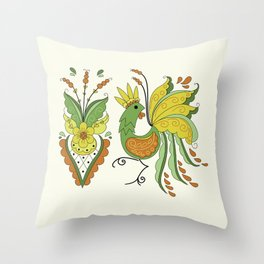 Folklore Rooster - Eivor Throw Pillow