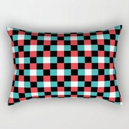 Pixeled Squares Rectangular Pillow