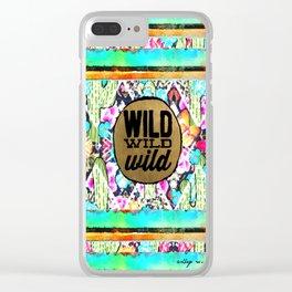 wild, wild, wild Clear iPhone Case
