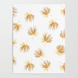 Golden Palm Leaf Poster