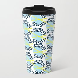 Leila - Abstract pattern, textile design  Travel Mug
