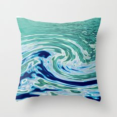 OCEAN ABSTRACT 2 Throw Pillow