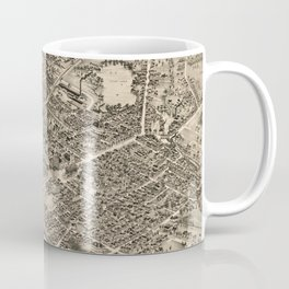 Vintage Pictorial Map of Pittsfield MA (1899) Coffee Mug