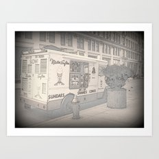 NY Ice Cream Art Print