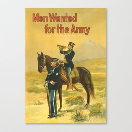 Men Wanted For The Army Canvas Print