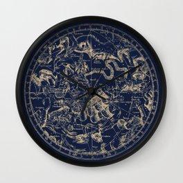 Gold Ceiling   Zodiac Skies Wall Clock