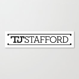 TJ Stafford block logo-Black on White Canvas Print