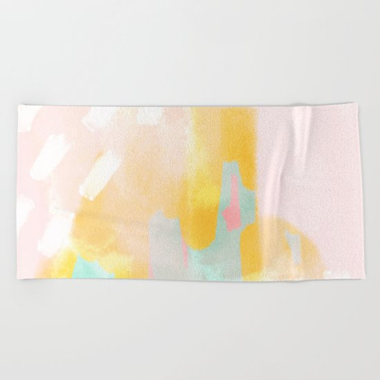 Soft Pastel summer abstract Beach Towel