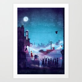 Midnight Street Klubnacht Art Print