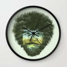 Happy Trees Wall Clock