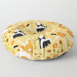 Fall Fresno Nightcrawlers Pattern Floor Pillow