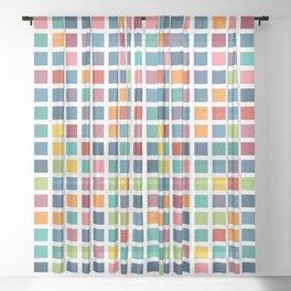 City Blocks - Subtle Rainbow #453 Sheer Curtain