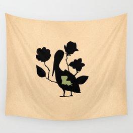 Louisiana - State Papercut Print Wall Tapestry