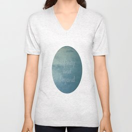 Infinity [With Text] Unisex V-Neck