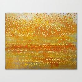 Landscape Dots - Orange Canvas Print