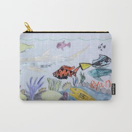 Sunlit Coral Bed Carry-All Pouch