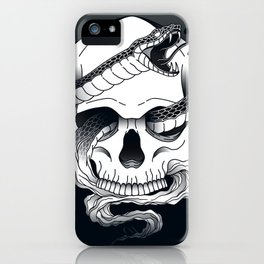Invidia (Envy) - Seventh of the Seven Deadly Sins - Black iPhone Case