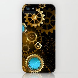 Steampunk Background with Gears iPhone Case