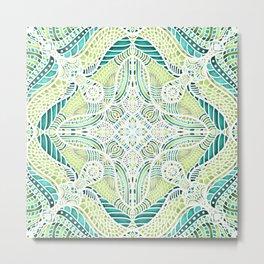 Abstract Fresh Pattern Metal Print