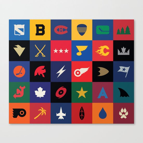 Minimalist Hockey Canvas Print