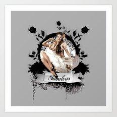 Lady Fabulous Art Print