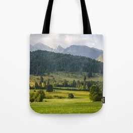 Mountainscape from Slovenia Tote Bag