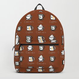 Hot Drinks (Brown) Backpack