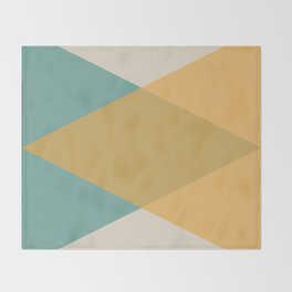 Mid Century - Yellow and Blue Throw Blanket