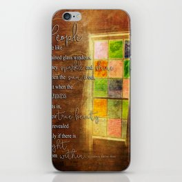 True Beauty Window with Quote iPhone Skin