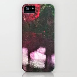What's In The Forest? Forest, Abstract, Painting, Jodilynpaintings. Red, Green. iPhone Case