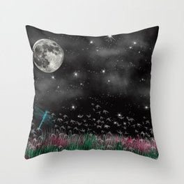 Night Critters Throw Pillow