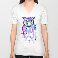 hedwig V-neck T-shirts featuring Hedwig by Simona Borstnar