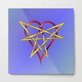 HeartStar Knot Metal Print
