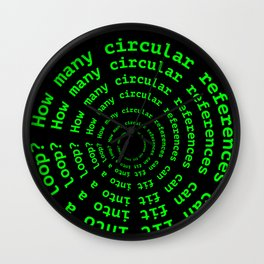 Loop Tech Joke Wall Clock