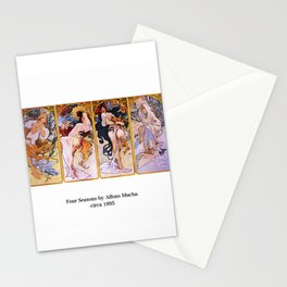 "Alfons Mucha, "" Four Seasons (1895)"" Stationery Cards"