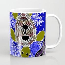 Authentic Aboriginal Art - Sea Turtles Coffee Mug