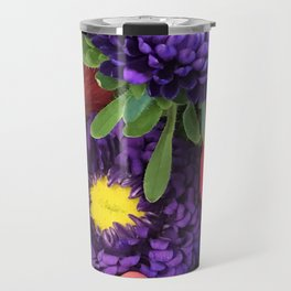 A Happy Bunch Of Colorful Flowers Travel Mug