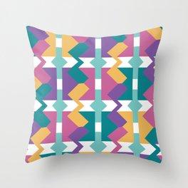 Crunchy Rainbow Throw Pillow