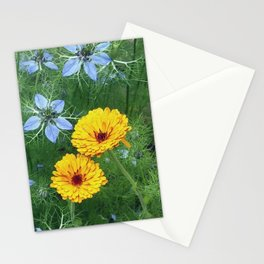 love in a mist, fading Stationery Cards