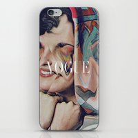 vogue iPhone & iPod Skins featuring Vogue by Mrs Araneae