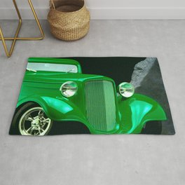 Neon Green Custom Classic Roadster Rug