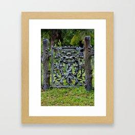 Lovely Cemetery Gate Framed Art Print