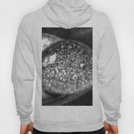 Black-and-White Water Droplet Hoody