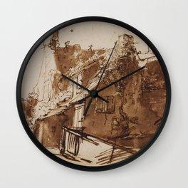 Dutch Farmhouse in Sunlight Wall Clock
