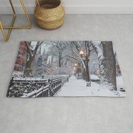 An Urban Snow Day Rug
