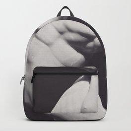 Discobolus, Fine art photo for home decor, interior decoration, black & white photography, roman statue, greek art Backpack