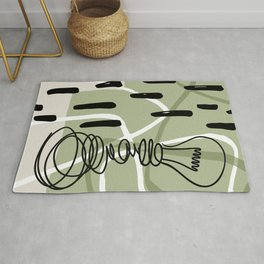 Line art abstract bulb Rug