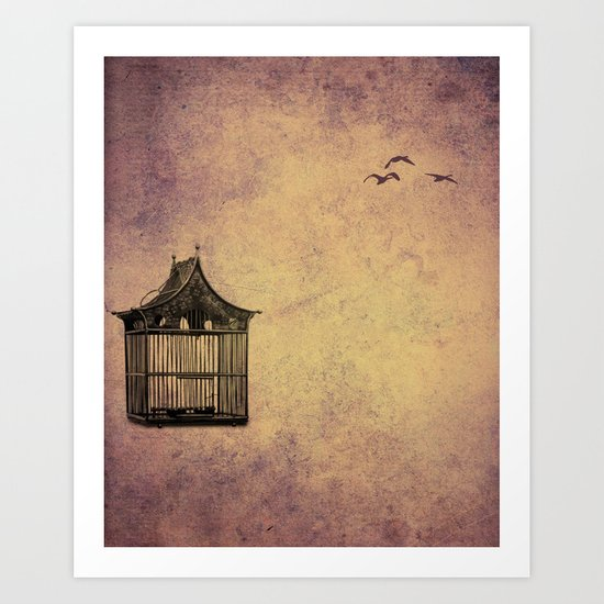 birds and freedom concept Art Print