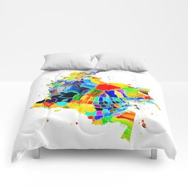 Colombia Map Comforters