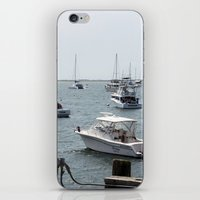 boats iPhone & iPod Skins featuring Boats by Kim Hawley